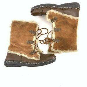Cherokee Womens Suede Faux Fur Boot 8.5